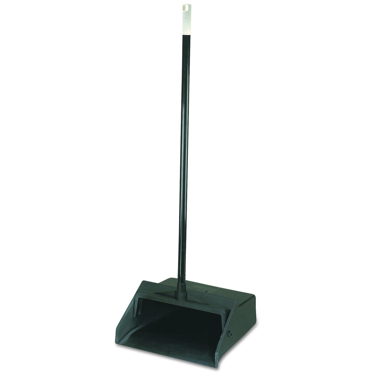 Carlisle 361410 Duo-Pan Upright Lobby Pan Plastic Black 12 Wide 30 Handle