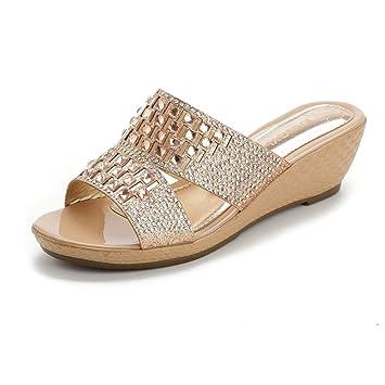 LVZAIXI Zapatos Zapatillas ligeras de las mujeres del dedo del pie abierto Niñas traje de baño ...