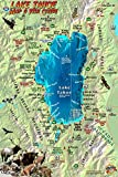 Lake Tahoe Map & Fish Guide Franko Maps Laminated Fish Card