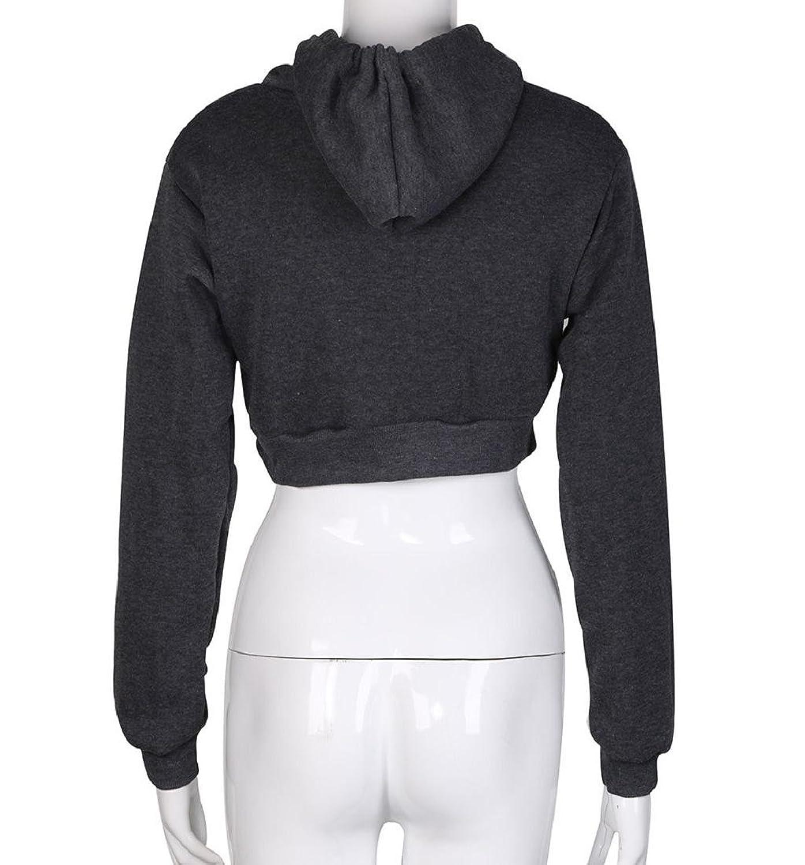 Rcool Damen Sport lockere Casual Langarm Hoodie Polyester