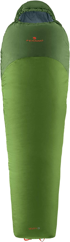 Unisexe Taille Unique Vert Adultes Levity 01 DX Multicolore Ferrino 86601HVVD.1SIZ Sac de Couchage