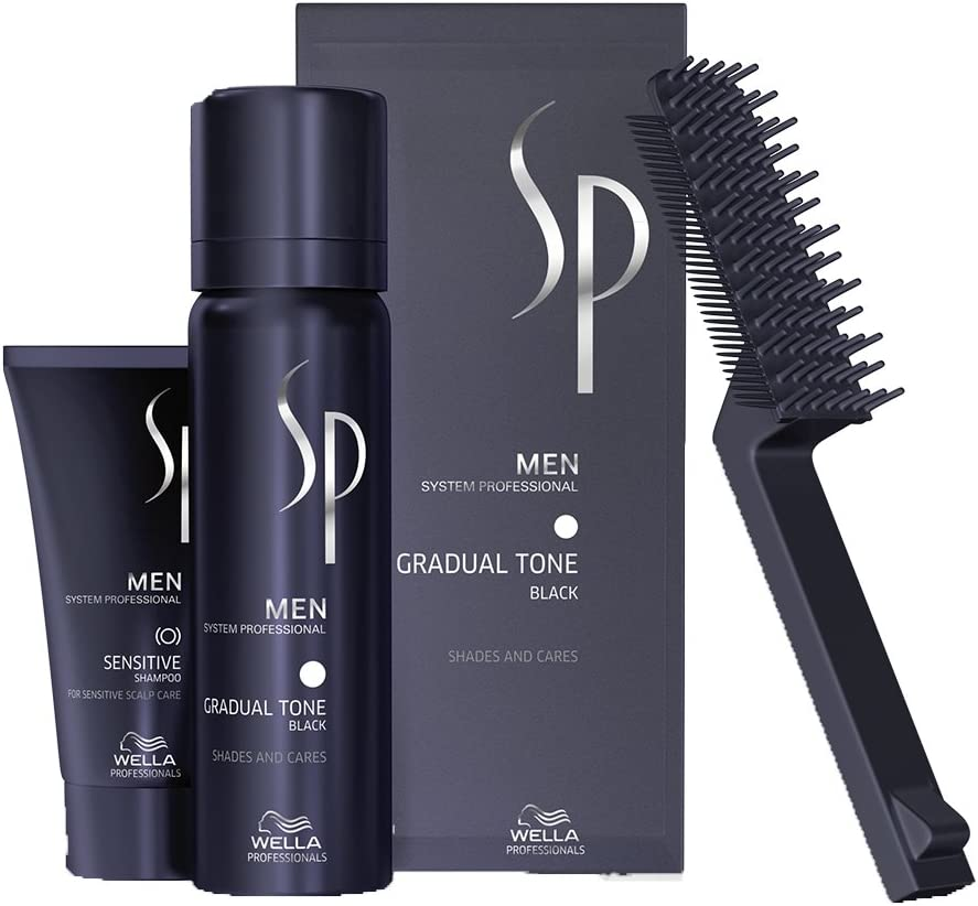 Wella SP Men - Set de espuma de pigmento negro Gradual Tone (60ml) + champú (30ml)