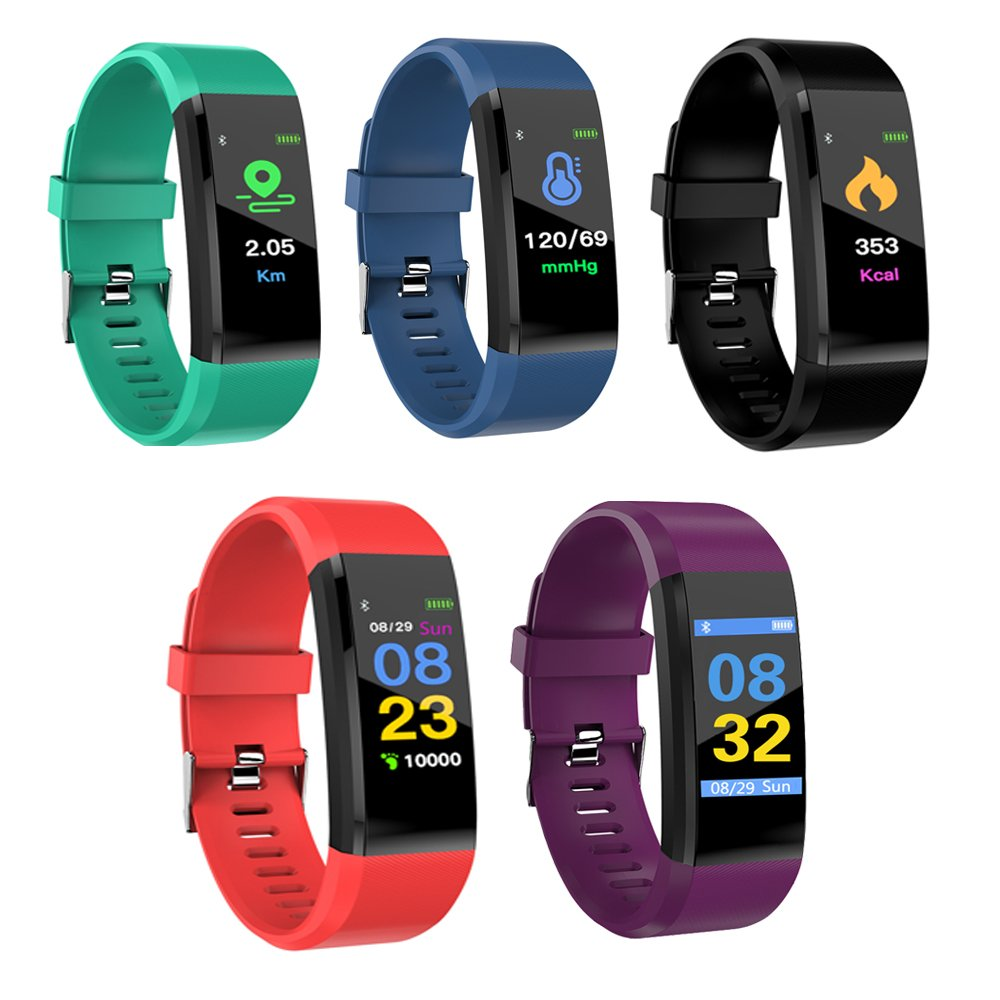 Istyle Color Screen Fitness Tracker Activity Tracker with Heart Rate Blood Pressure Monitor Watch Pedometer Calorie Counter Smart Band Bracelet for Android and iOS Smartphone