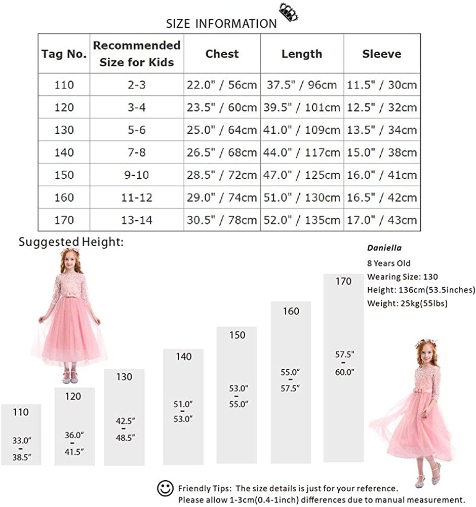 Vestito Elegante da Ragazza Festa Cerimonia Matrimonio Damigella Donna Sposa Prima Comunione Battesimo Carnevale Cocktail Ballerina Prom Abiti Lunghi per Bambini Bambina Fiore Ragazze Vestito Costume