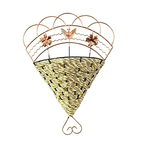 Amazon.com: Biback Wall Hanging Basket Retro Vintage Iron Wall Art ...