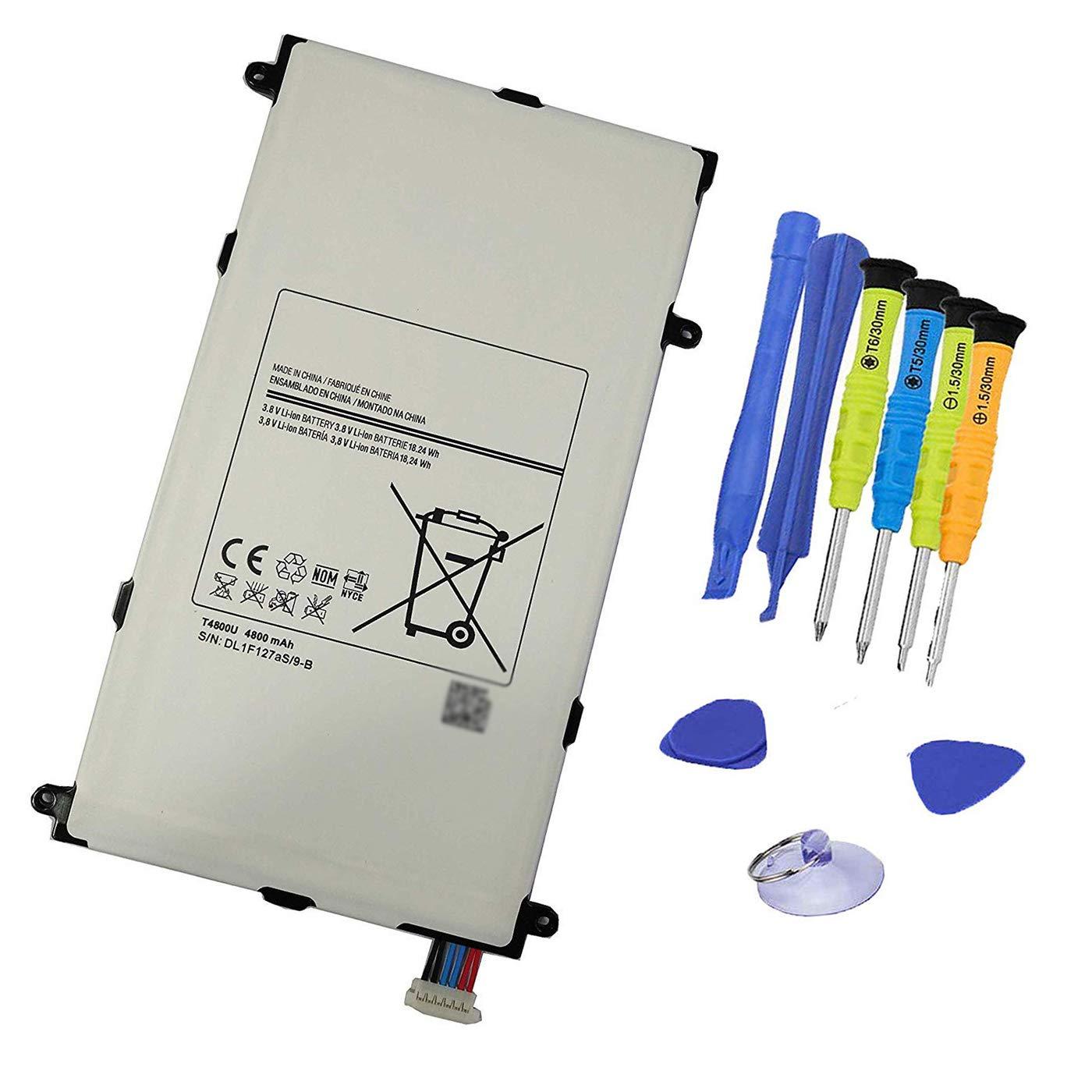 Bateria T4800U 3.8V 18.24Wh 4800mAh Tablet para Samsung Galaxy Tab Pro 8.4 SM-T325 T320 T321 Series T4800E T4800C T4800K