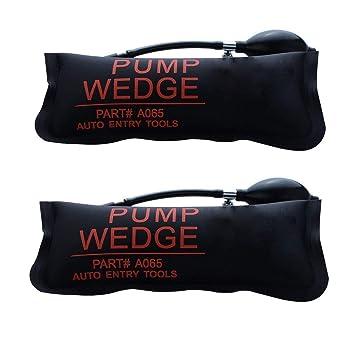 URXTRAL Herramienta de alineación de la cuña del aire de la bomba Herramientas de mano potentes amortiguadas del aire de Shim inflable (Large 2PCS): ...