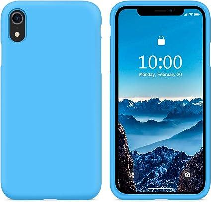 cover iphone 6 silicone azzurra