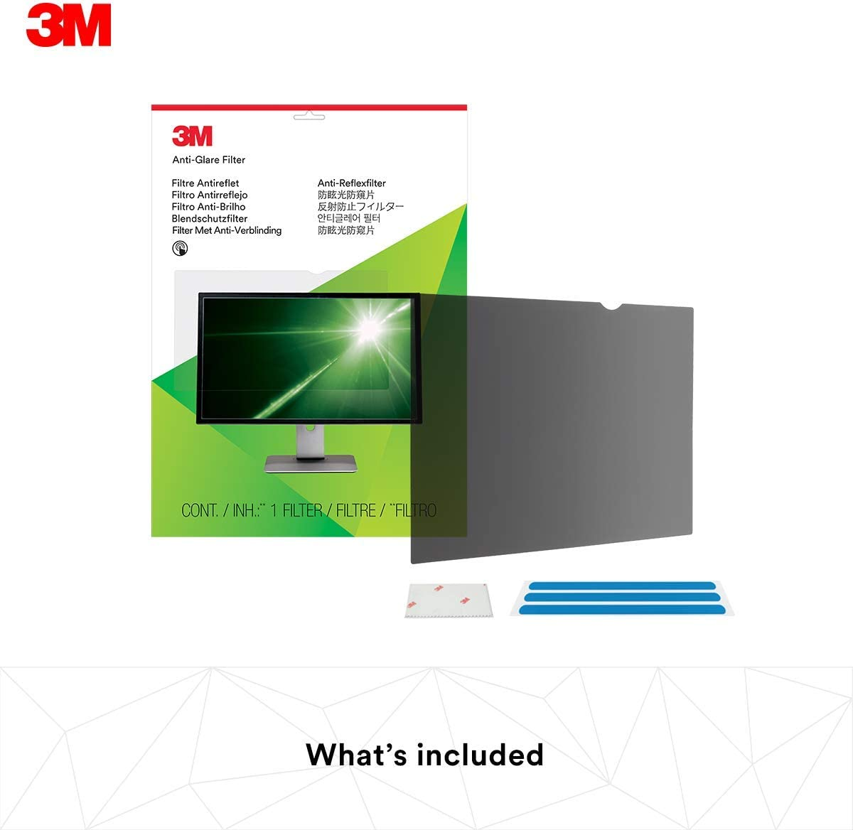 3M AG19.0W Blendschutzfilter f/ür LCD Widescreen Desktop Monitore 48,3 cm entspricht 19