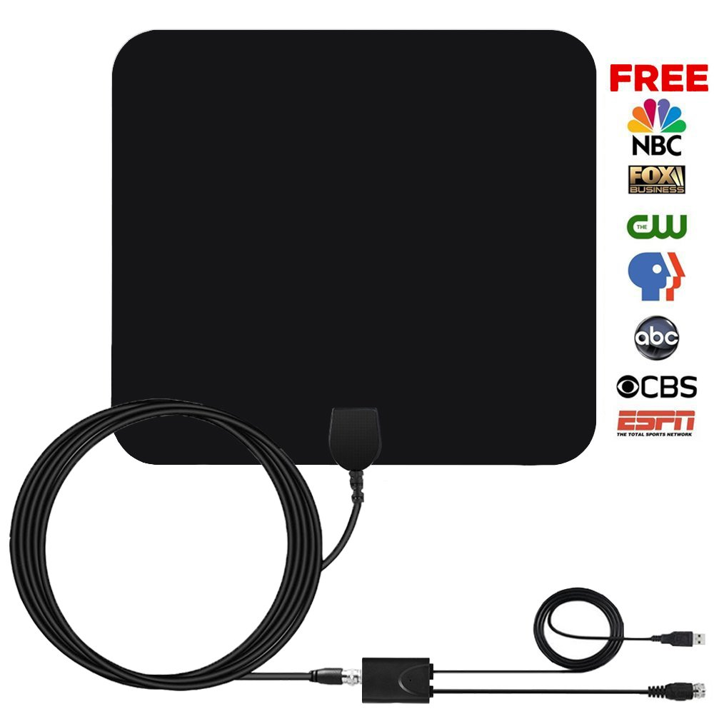 Coolmade TV Antenna 50 Miles Indoor 2017 Digital HDTV Antenna with Detachable Channels Amplifier Signals Booster Easy Installation Antenna for TV 1080P High Reception Amplified with 9.8Ft Cable