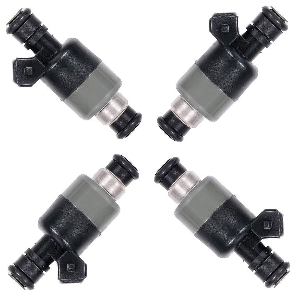 TUPARTS Fuel Injectors Set 4pcs 6Holes Fuel Injector Parts fit for 1999 2000 Chevy S10,1998 1999 Chevy Cavalier Pontiac Sunfire,1998 1999 2000 GMC Sonoma 17122106 17113512