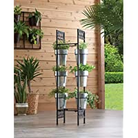 Better Homes and Gardens 7-Piece Galvanized-Finish Vertical Planter