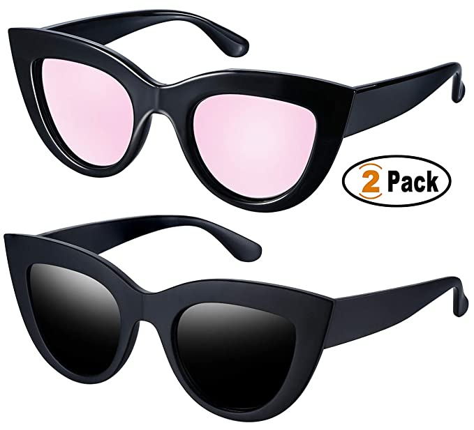 707f5de39d Joopin Retro Polarized Cateye Sunglasses - Women Vintage Cat Eye Sun Glasses  UV400 Protection E8022 (