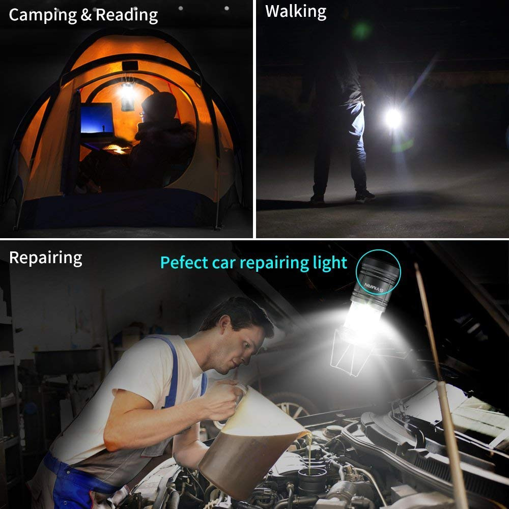Camping Lantern-2 Pack Swiftrans Portable LED Lantern Flashlights Camping Hand Held Flashlights, Camping Equipment for Survival, Emergence, Outdoor Hiking, Hurricanes, Storms, Outages