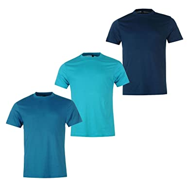 5d0f439c4735e7 Donnay Mens 3 Pack T Shirt Tee Top Short Sleeve Crew Neck Casual Clothing  Teal/