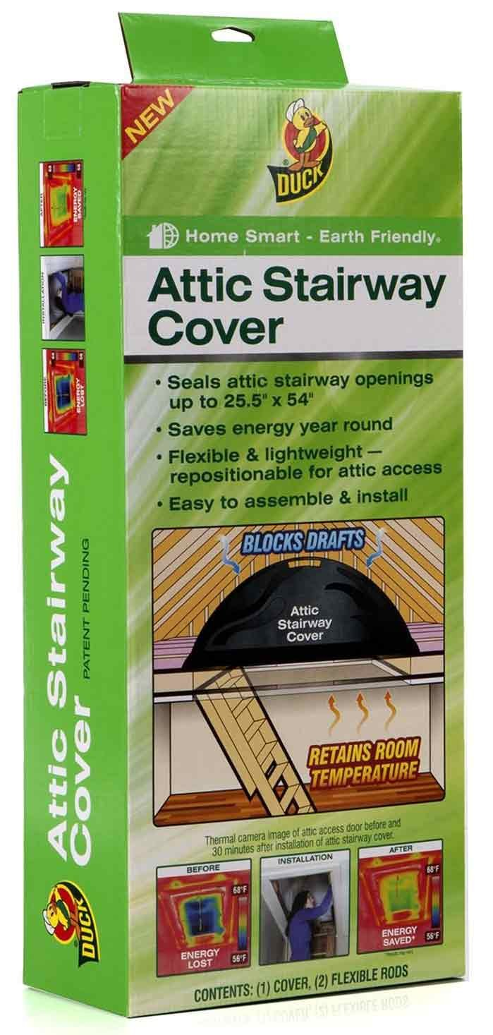 duck brand attic stairway cover 25 5 x 54 inches black 285109