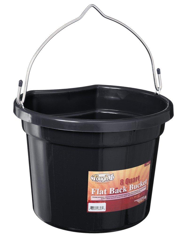 Tough 1 Flat Back Bucket, Black, 8-Quart