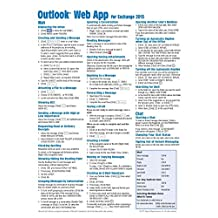 Microsoft Outlook Web App (OWA) for Exchange 2013 Quick Reference Guide (Cheat Sheet of Instructions, Tips & Shortcuts - Laminated Card)