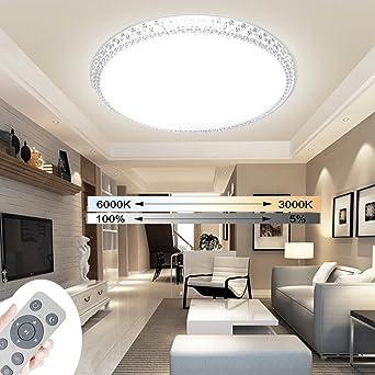 24W LED Deckenleuchte Wohnzimmer Schlafzimmer Sternenhimmel Decken Lampe Dimmbar