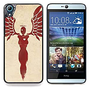 Planetar ( Corazón mujer Blood Angel Red Wings ) HTC Desire 626 626w 626d 626g 626G dual sim Fundas Cover Cubre Hard Case Cover