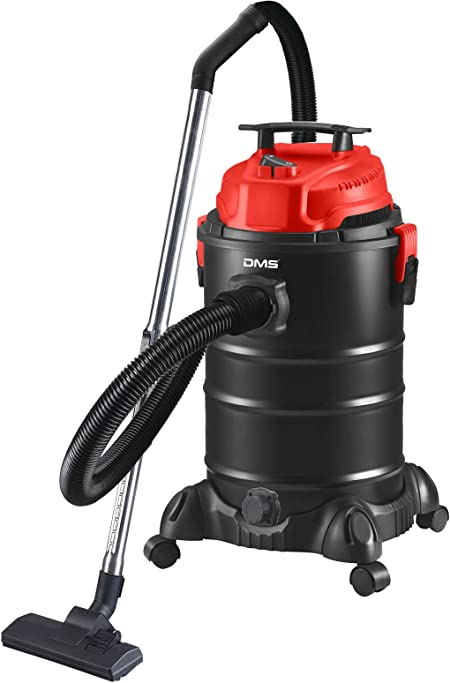 DMS® NTAS-30 - Aspiradora industrial 4 en 1, 1800 W, para cenizas, seco, sin bolsa, 30 litros, metal, aspirador de cenizas, aspiradora multiusos, sin bolsa, función de soplado rojo: Amazon.es: Hogar