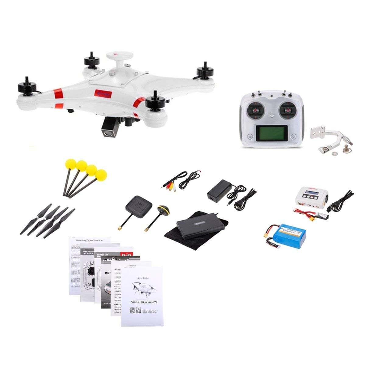 Detectoy IDEAFLY Poseidon-480 Brushless 5.8G FPV 700TVL Camera GPS Quadcopter with OSD Waterproof Professional Fishing RC Drone