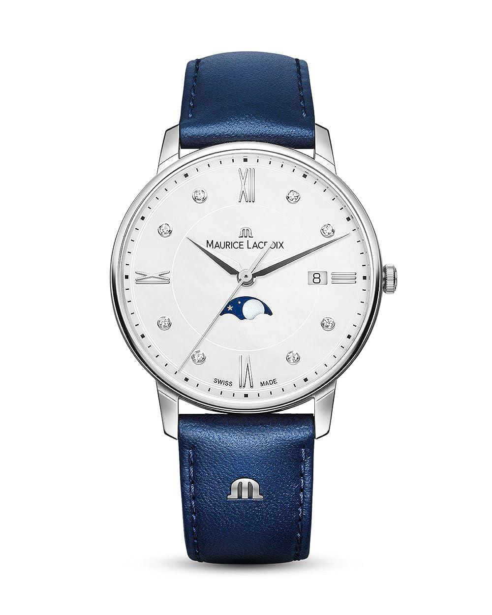 Maurice Lacroix Eliros Moonphase Ladies Quartz Watch, 35 mm, el1096-ss001 – 150 – 1 B07CP61DKT