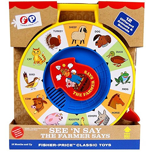 61get piFlL - Fisher Price Classic Farmer Says See 'n Say