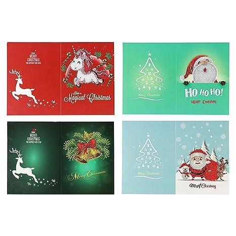 SUPVOX 4 unids/Set Navidad Tarjeta de Felicitación de ...