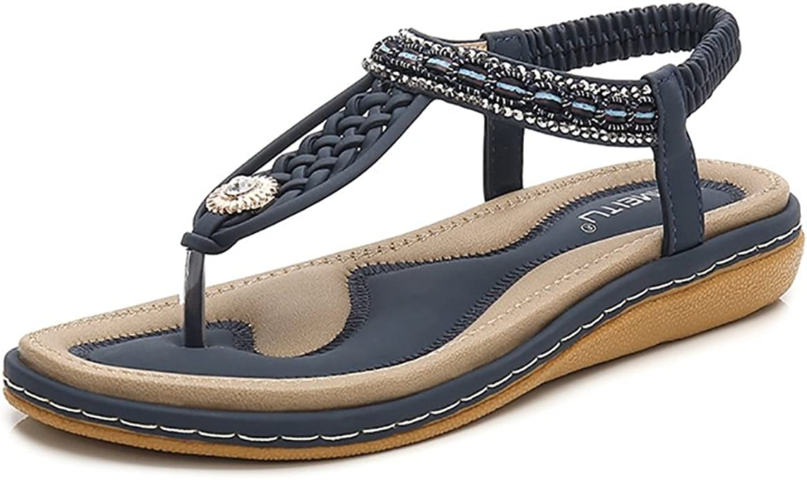 Women/'s Comfort Rhinestones Sandals Shiny Embellished Slippers Flip Flop Shoes