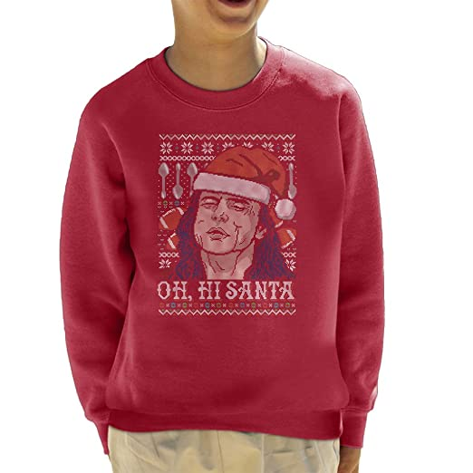 The Room Oh Hey Santa Christmas Knit Pattern Kids Sweatshirt