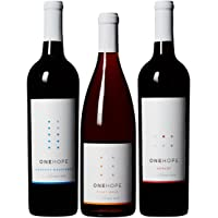 ONEHOPE California Reds Wine Mixed Pack, Includes California Merlot, Pinot Noir, Cabernet Sauvignon, 3 Pack 3 x 750 mL