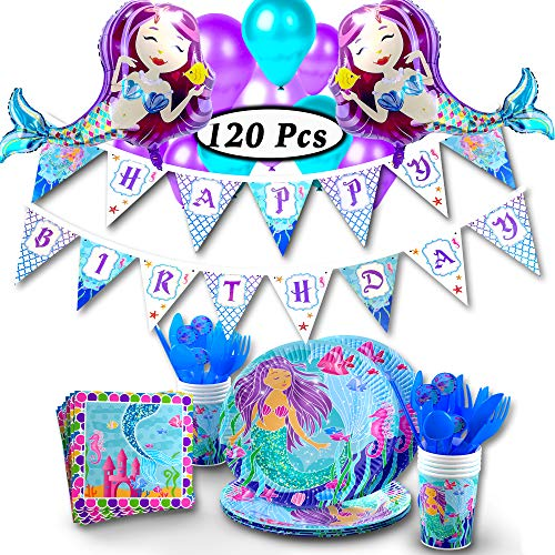 khaotic Complete Mermaid Party Supplies Set & Decorations