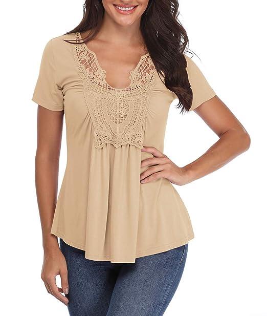 Amazon.com: Miss Moly blusas campesinas para mujer ...