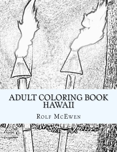 Adult Coloring Book Hawaii