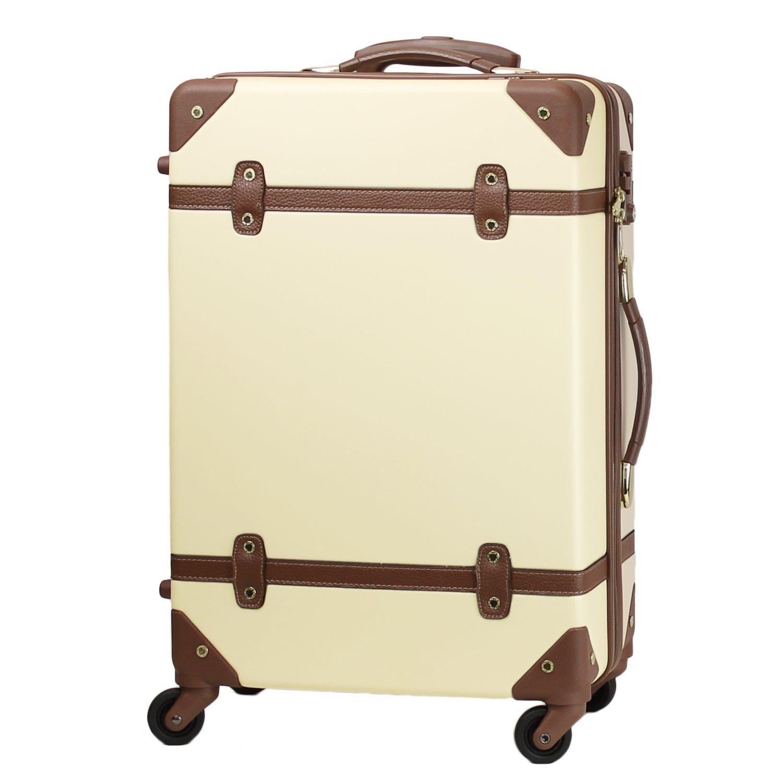 MOIERG(モアエルグ) キャリーバッグ YKK使用 軽量 キャリーケース スーツケース 3年保証 B01KWLP6GE S|ベージュ ベージュ S