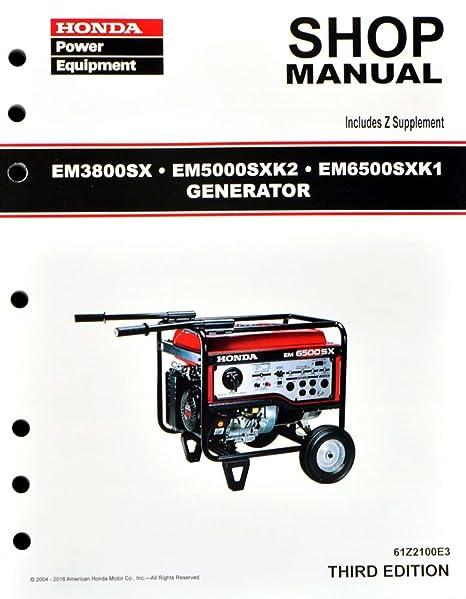 amazon com honda em3800 em5000 em6500 generator service repair rh amazon com Honda EM6500SX Deluxe EM6500SX Honda Recall