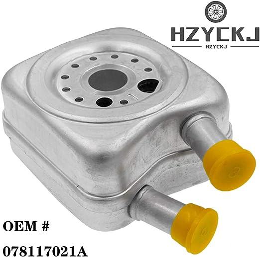 HZYCKJ Enfriador de aceite del motor OEM # 078117021A: Amazon.es: Coche y moto