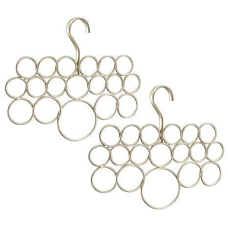 InterDesign Axis Organizador de pañuelos con 18 anillos ...