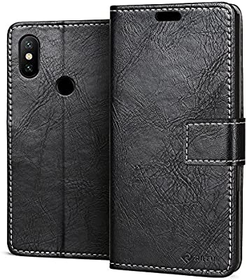 RIFFUE Funda Xiaomi Redmi Note 5, Carcasa Libro Piel PU Fina Libro Retro Flip Billeteras y Ranuras con Cierre Magnético, Case para Redmi Note 5 - ...
