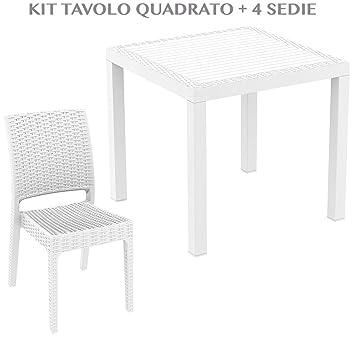professional ORLANDO 80 + FLORIDA Table carrée avec 4 chaises de ...