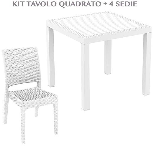 professional ORLANDO 80 + FLORIDA Mesa cuadrada con 4 sillas de ...
