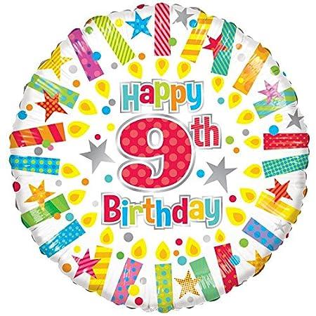 EFS Globo para vela radiante de 9º cumpleaños, 2 unidades ...