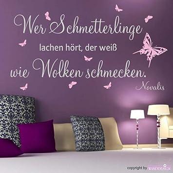 pegatina de pared frases Tatuaje de la pared Cita Wer Butterflies ...
