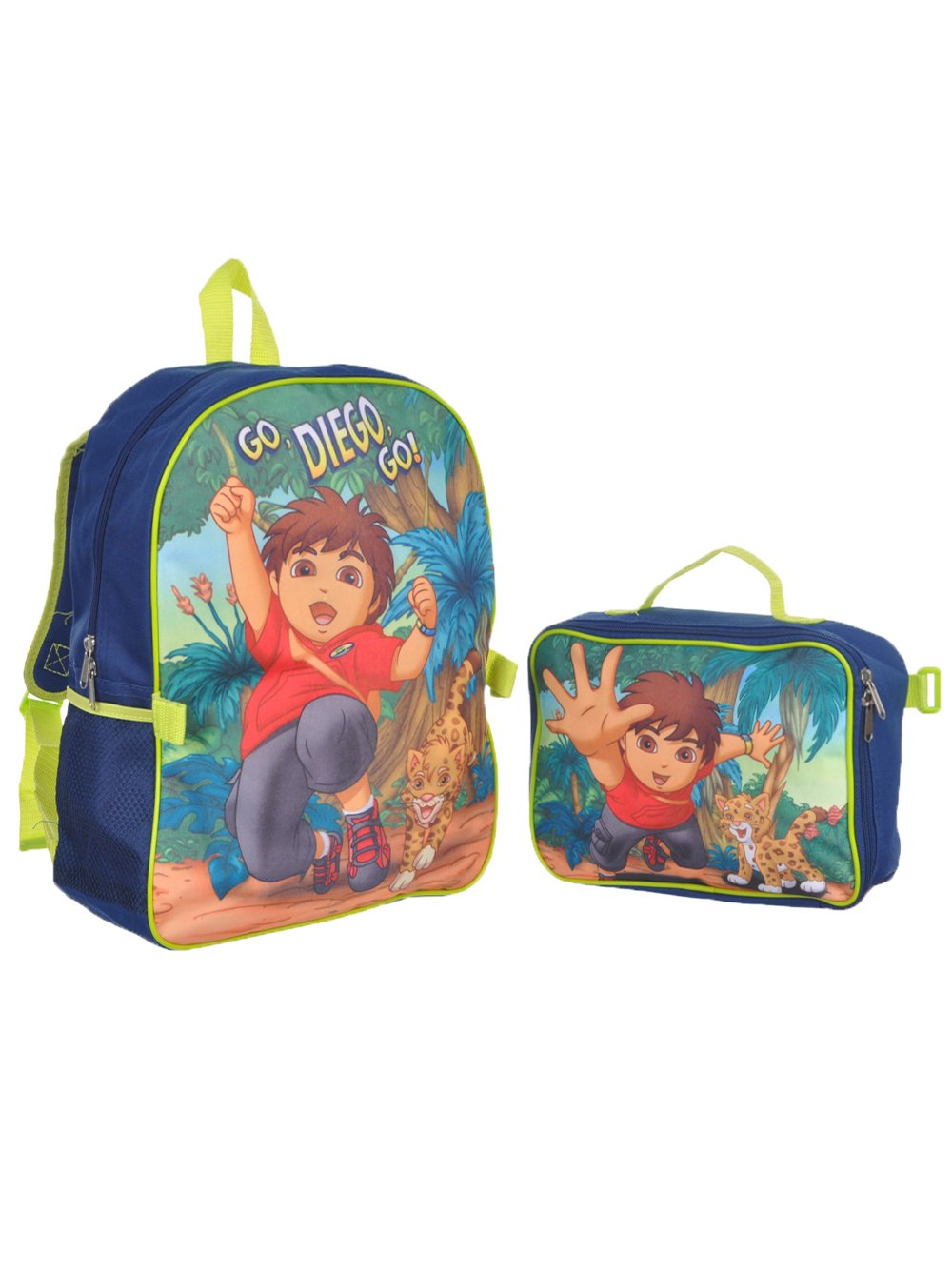 Go, Diego, Go! ''Let's Go Adventuring'' Backpack with Lunchbox - navy/light green, one size