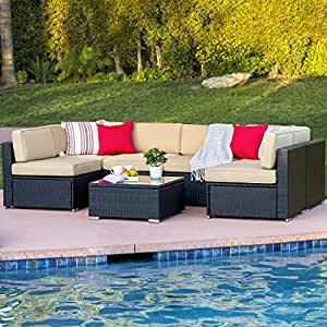 Best choiceproducts 7 piece outdoor patio for Sofa exterior amazon
