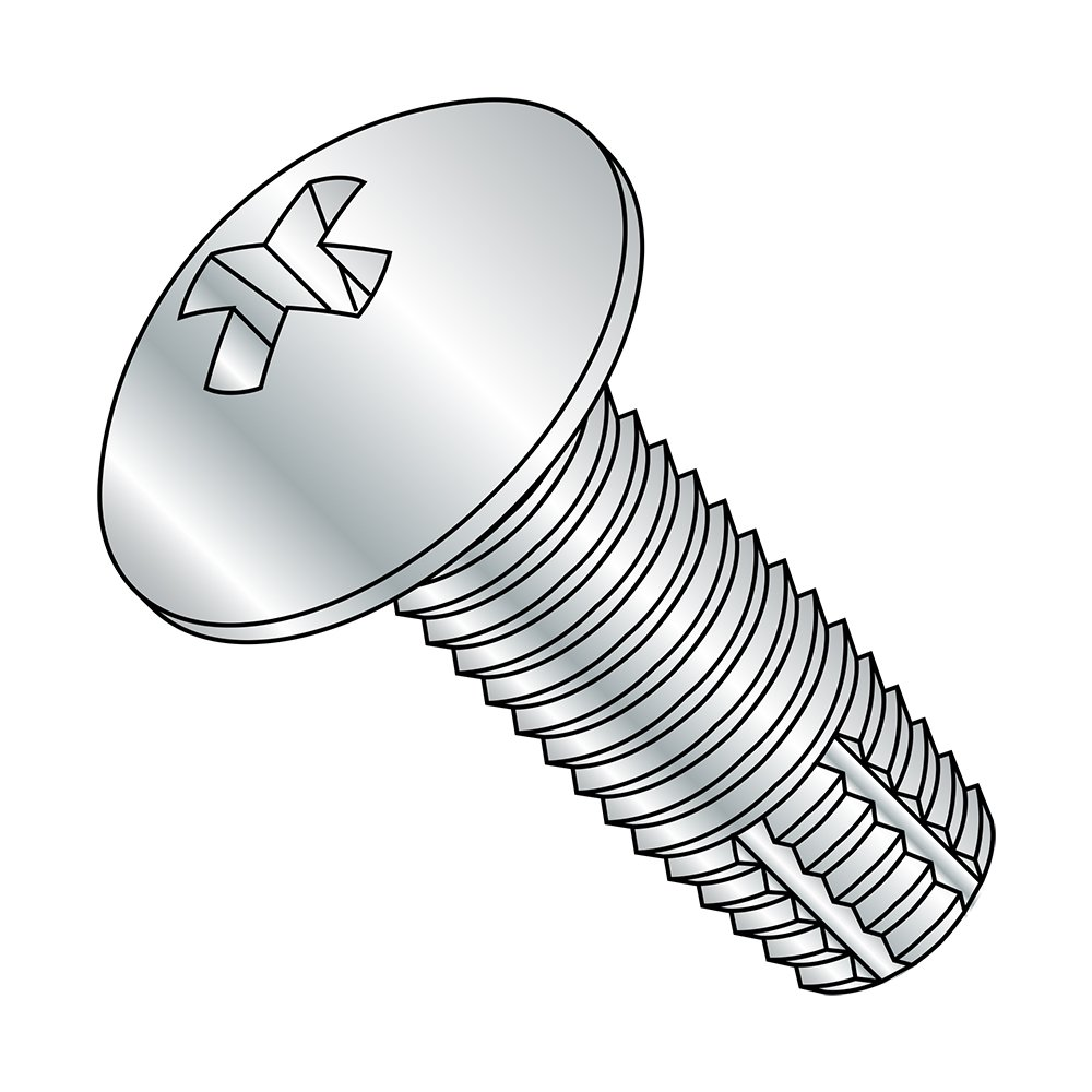 Truss Head 3//4 Length 3//4 Length Small Parts 0812FPT Zinc Plated Finish Pack of 50 Steel Thread Cutting Screw Pack of 50 Phillips Drive Type F #8-32 Thread Size