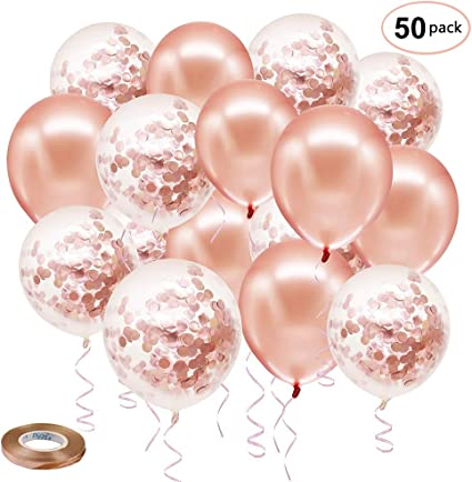"""5/"""" inch small latex balloons ROSE GOLD COLOR  party birthday wedding decoration"""
