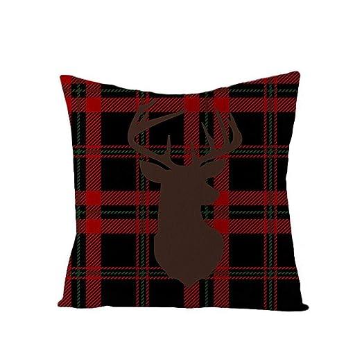 Funda de cojín de funda de almohada de Navidad Funda de ...