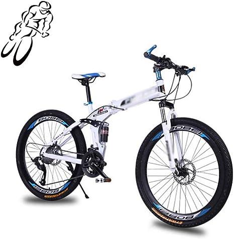 STRTG Bicicleta de montaña Plegado,Bicicleta Plegable,Marco De Acero De Alto Carbono, 26 Pulgadas 24 * 27 Velocidad Unisex Adulto Montar al Aire Libre: Amazon.es: Deportes y aire libre